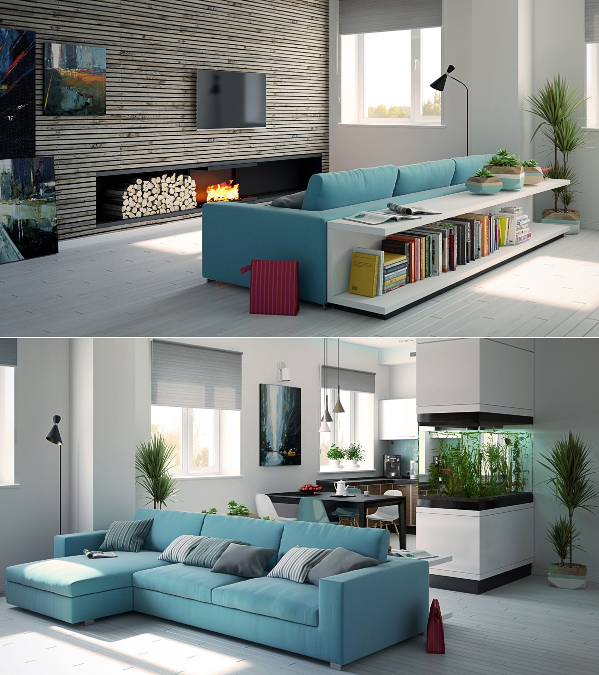 Aqua Living Room Decorating Ideas Gorgeous Lounge Wohnzimmer Awesomely Stylish Urban Living Rooms