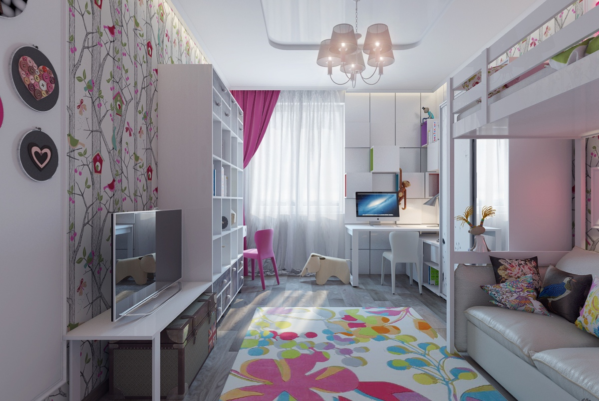 Pretty Girls Bedrooms Bright And Colorful Kids Room Designs With Whimsical