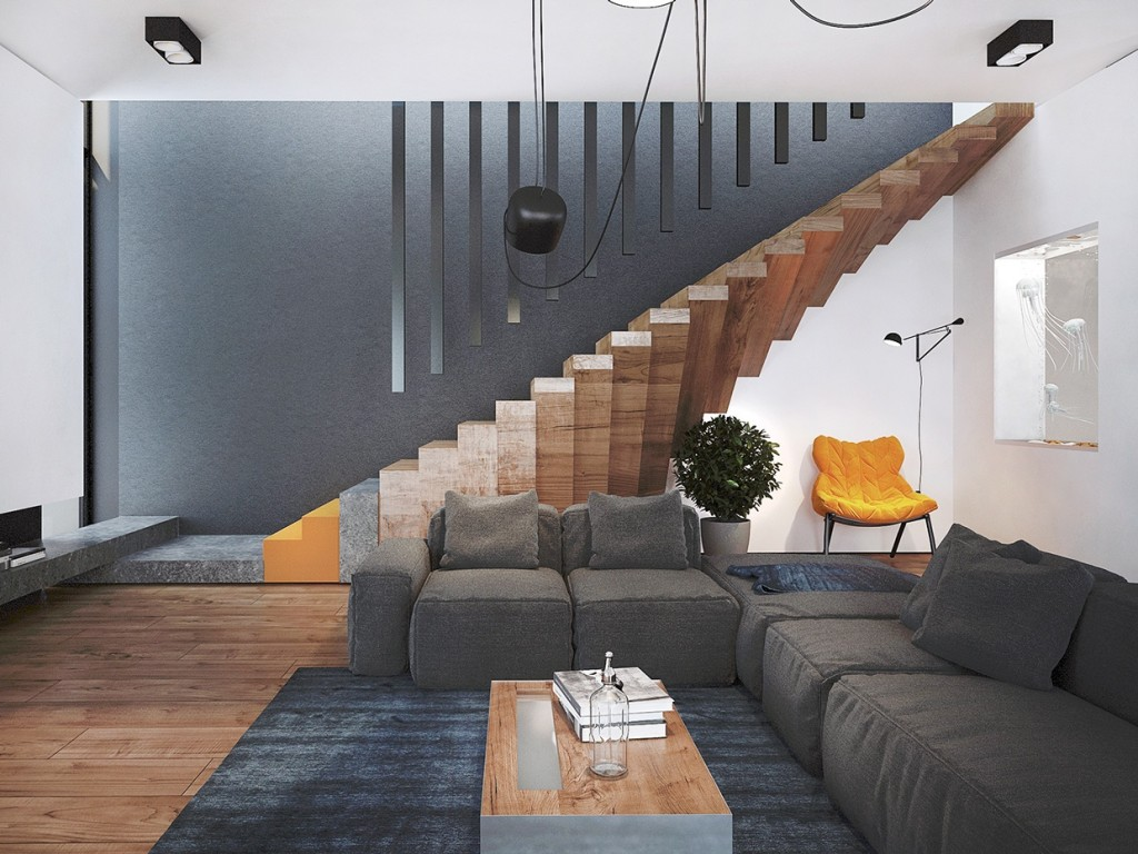 Im Wohnzimmer It S All About Interior Pinterest Living Room Trendy Home With Super Unique Staircase