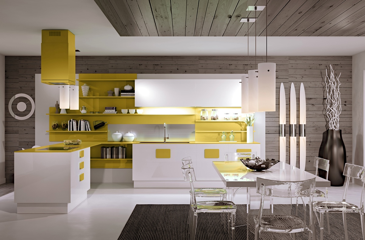 Yellow Accents Home Decor Gorgeously Minimal Kitchens With Perfect Organization
