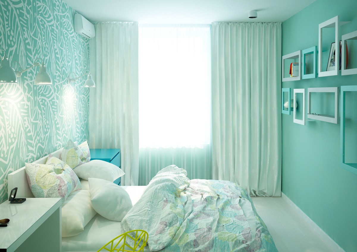 Wallpaper Warna Tosca Two Cheerful Apartments With Creative Storage And Splashes