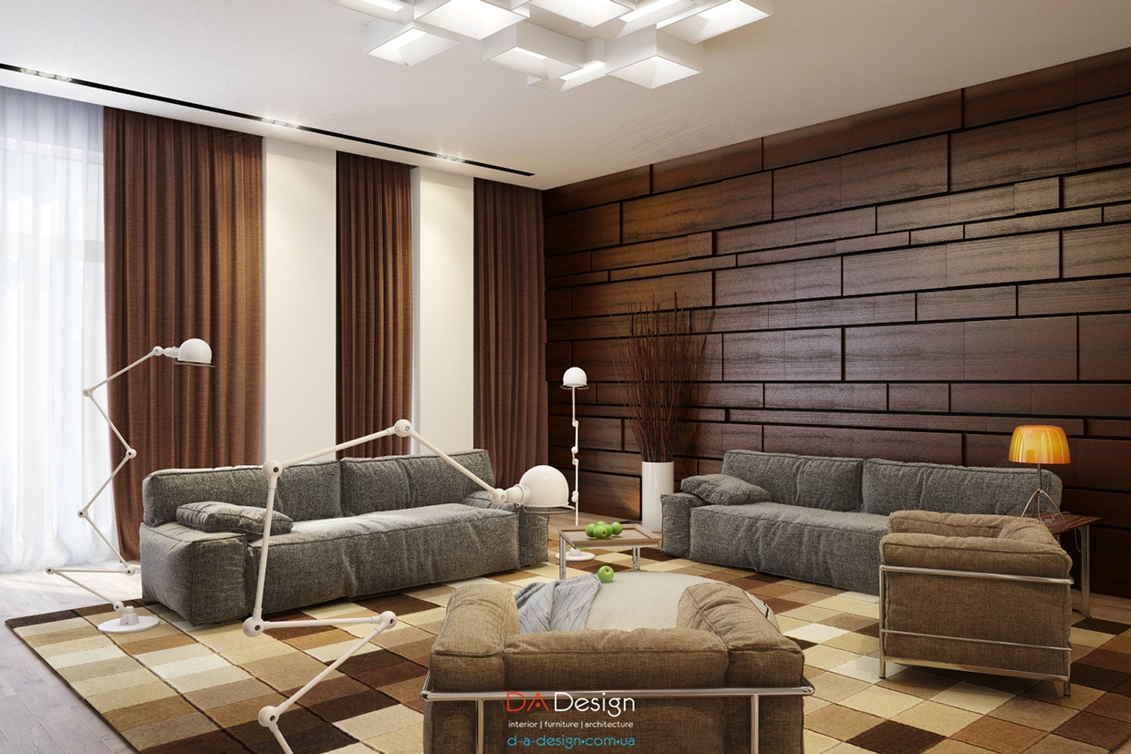 Wood Paneling For Walls Designs Luxurious Modern Cottage With Rich Warm Textures