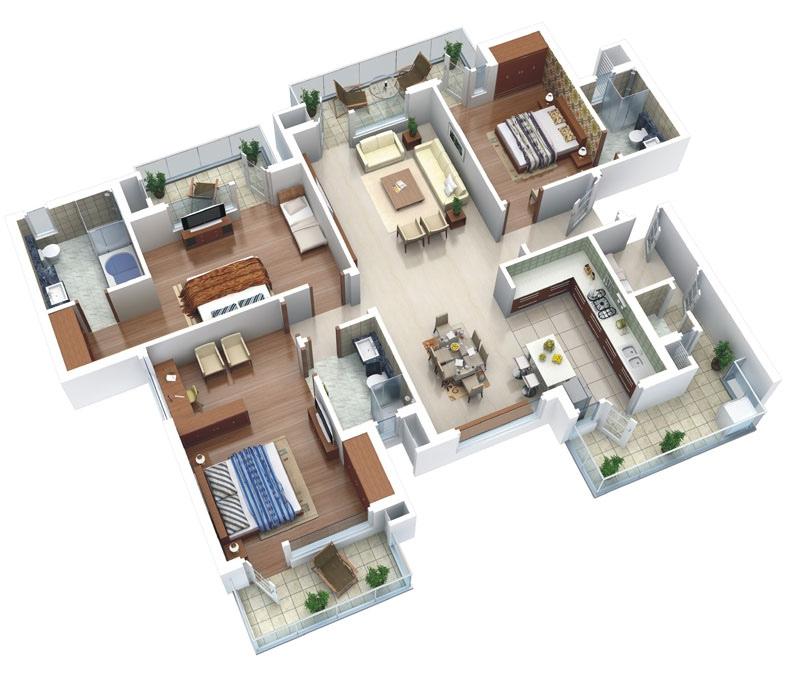Denah Rumah Minimalis Bentuk L Terbaru Denah Rumah Minimalis - Plan Maison Sweet Home 3d