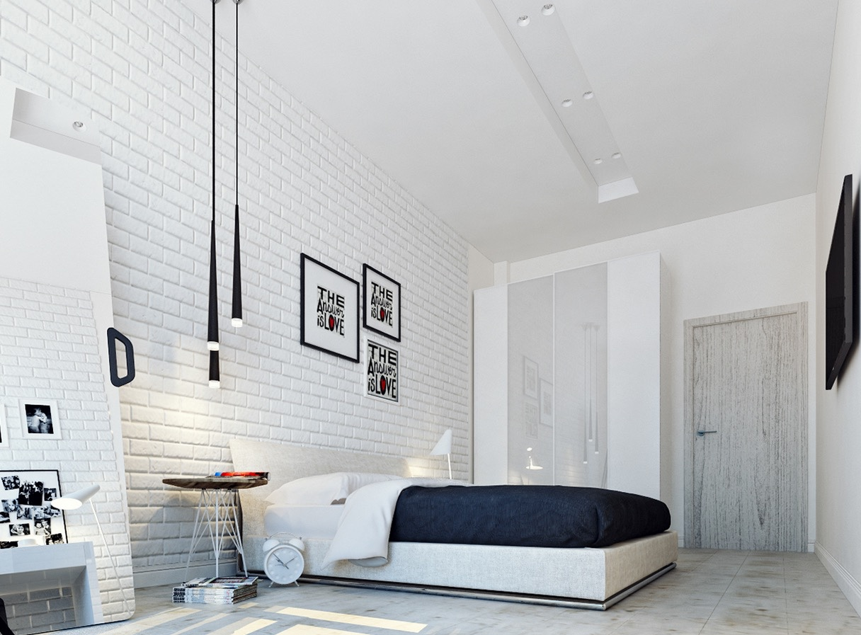 Adding Brick Wall Interior Impressive White Brick Wall Interiors That You Need To See Page