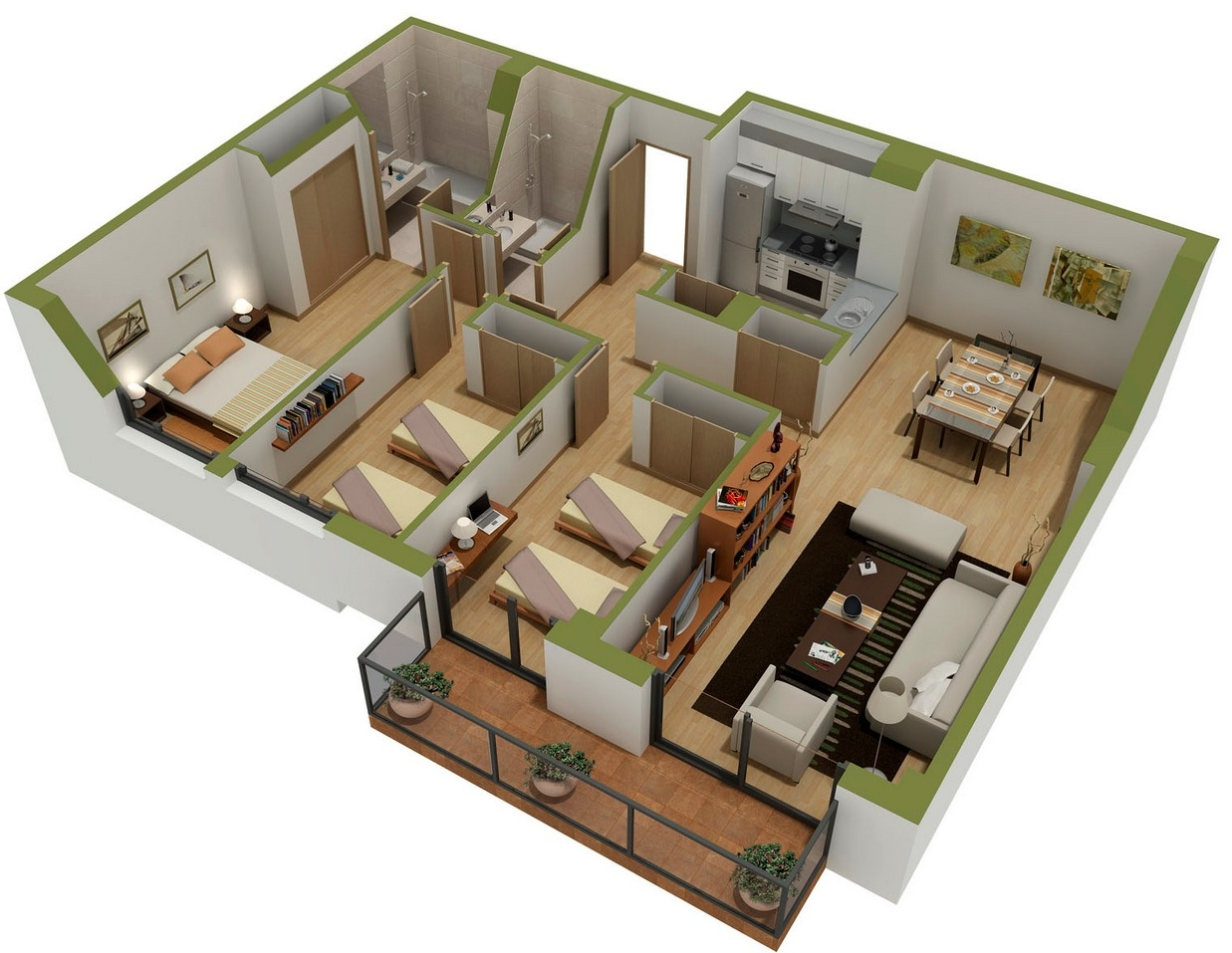 25 Bedroom House 25 Three Bedroom House Apartment Floor Plans