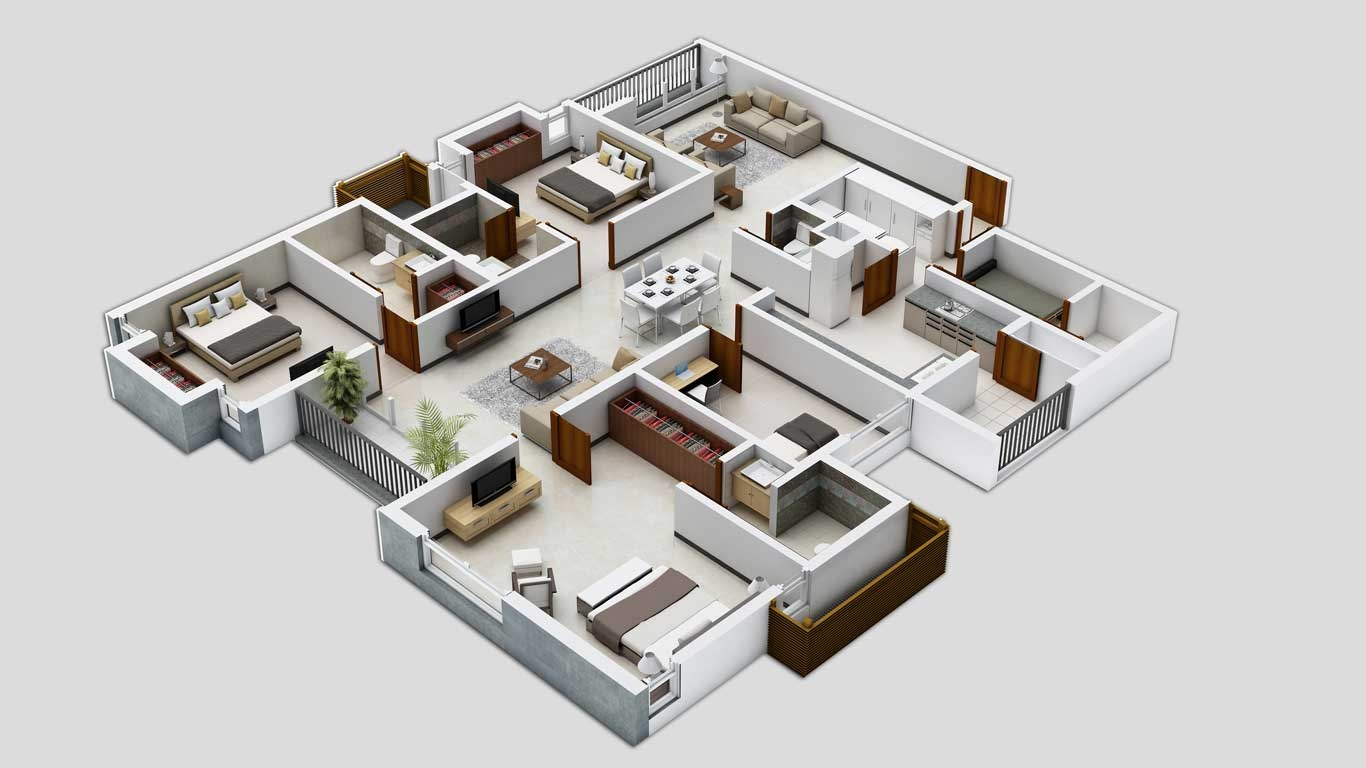 Home Design Floor Plan 25 Three Bedroom House Apartment Floor Plans