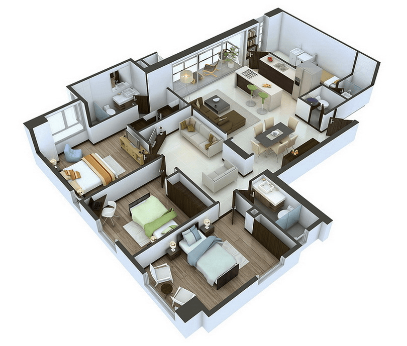 visualizer creative renderings bedroom apartment house plans