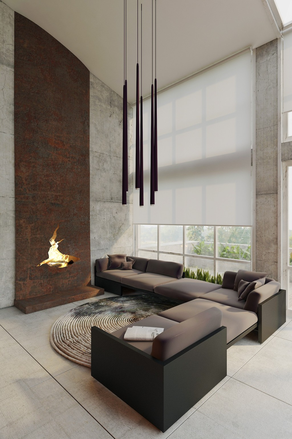 Black And Gray Wallpaper Homes That Use A Concrete Finish To Achieve Beautiful Results