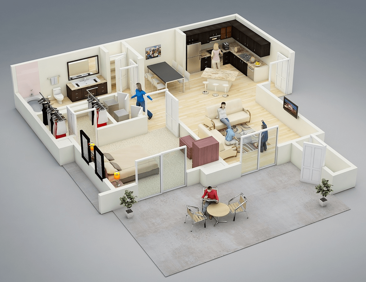 bedroom house apartment plans bedroom apartment house plans