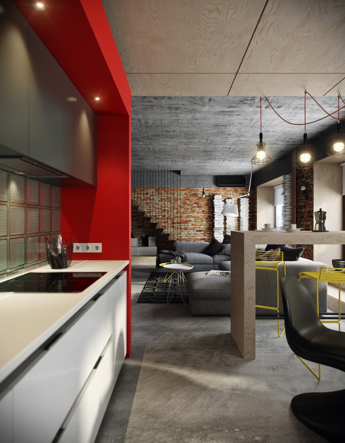 Red Accents 5 Houses That Put A Modern Twist On Exposed Brick