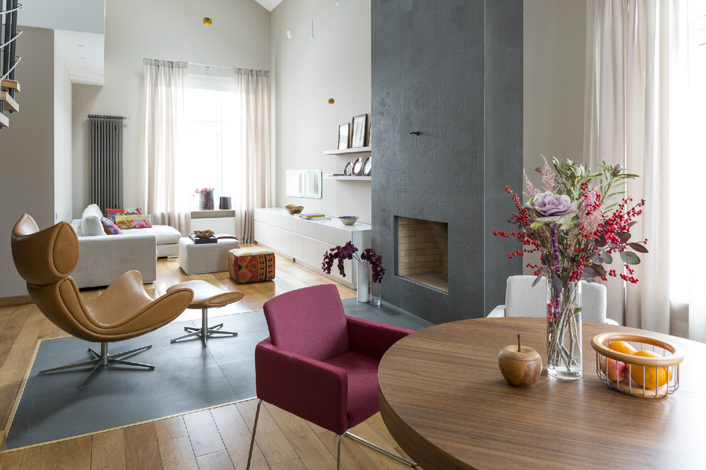 Home Und Design Two Modern Apartments With Perfectly Placed Bursts Of Colors