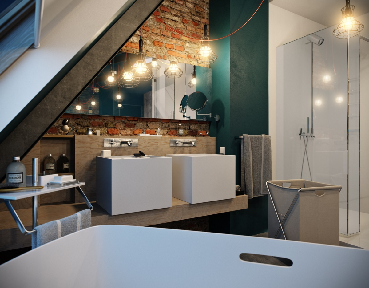 Ultra Modern Bathroom 5 Houses That Put A Modern Twist On Exposed Brick
