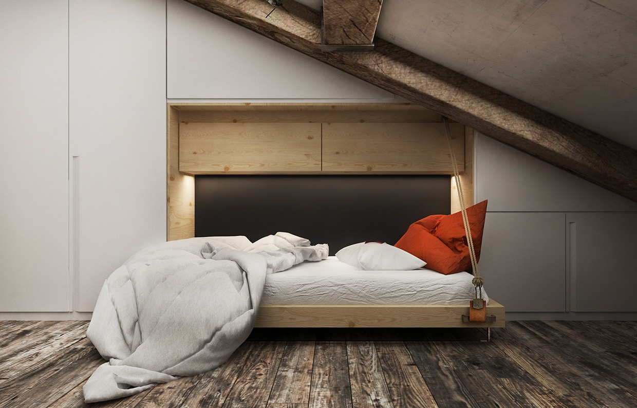 Dressing Sous Comble 3 Creative Top Floor Rooms With Wood Accents