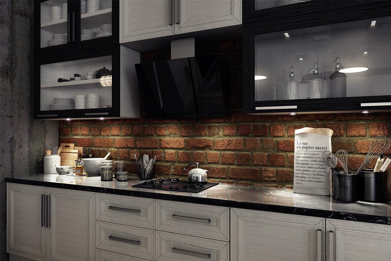 brick backsplash interior design ideas elegant brick backsplash kitchen presented soft colors