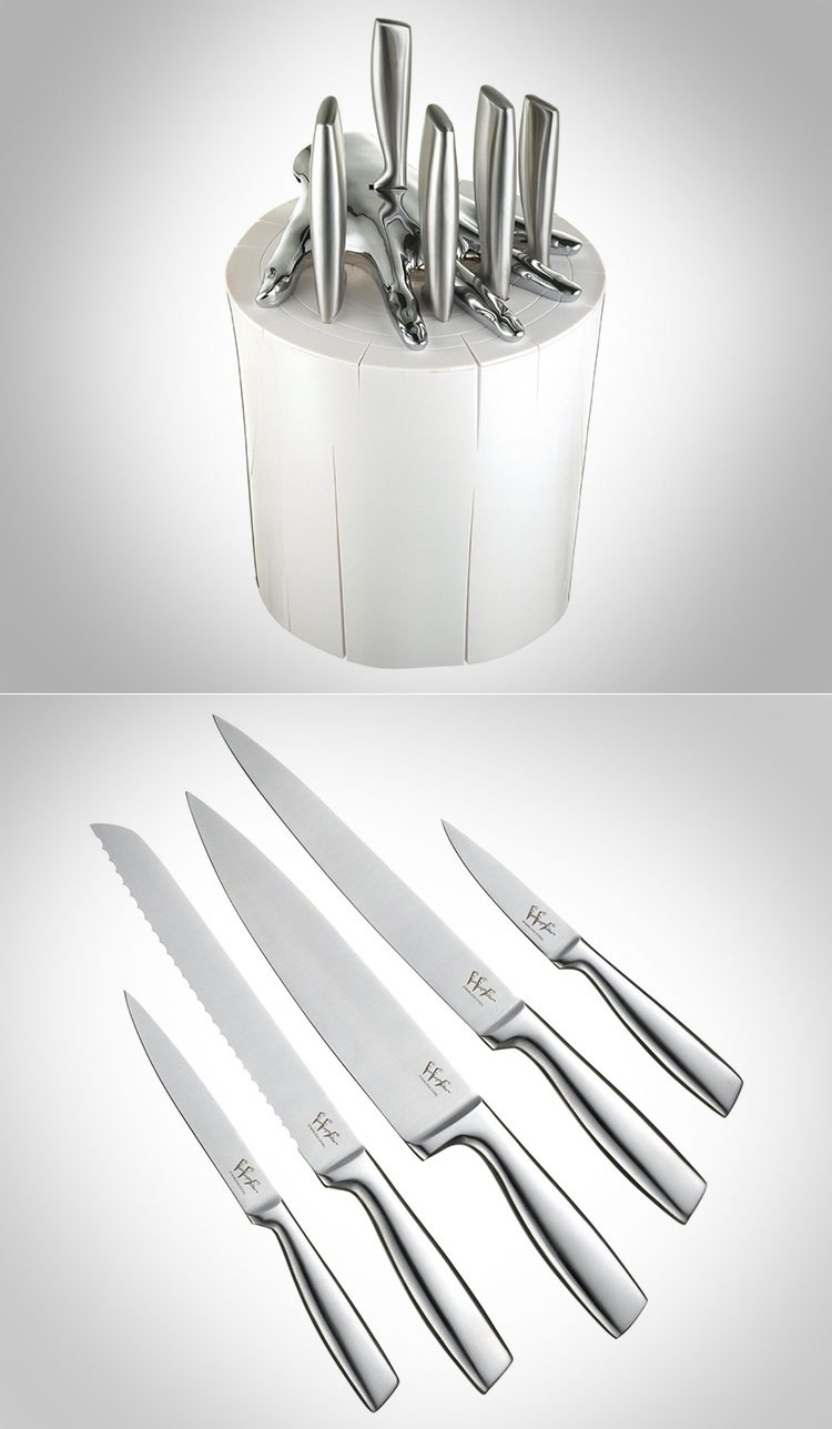 whimsy kitchen knife set trick knife openings creative kitchen supplies stainless steel kitchen knife