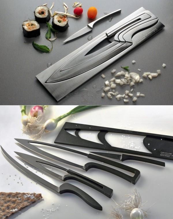 nesting knives hollow centers storage easy nido de cuchillos de diseno el chiltepe