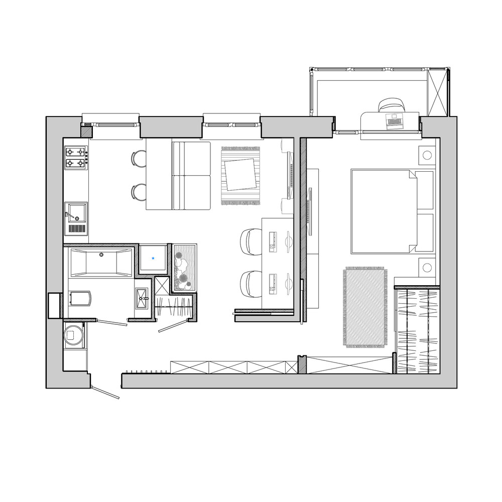 apartment designs small family young couple bachelor printer friendly page add plan plans collection