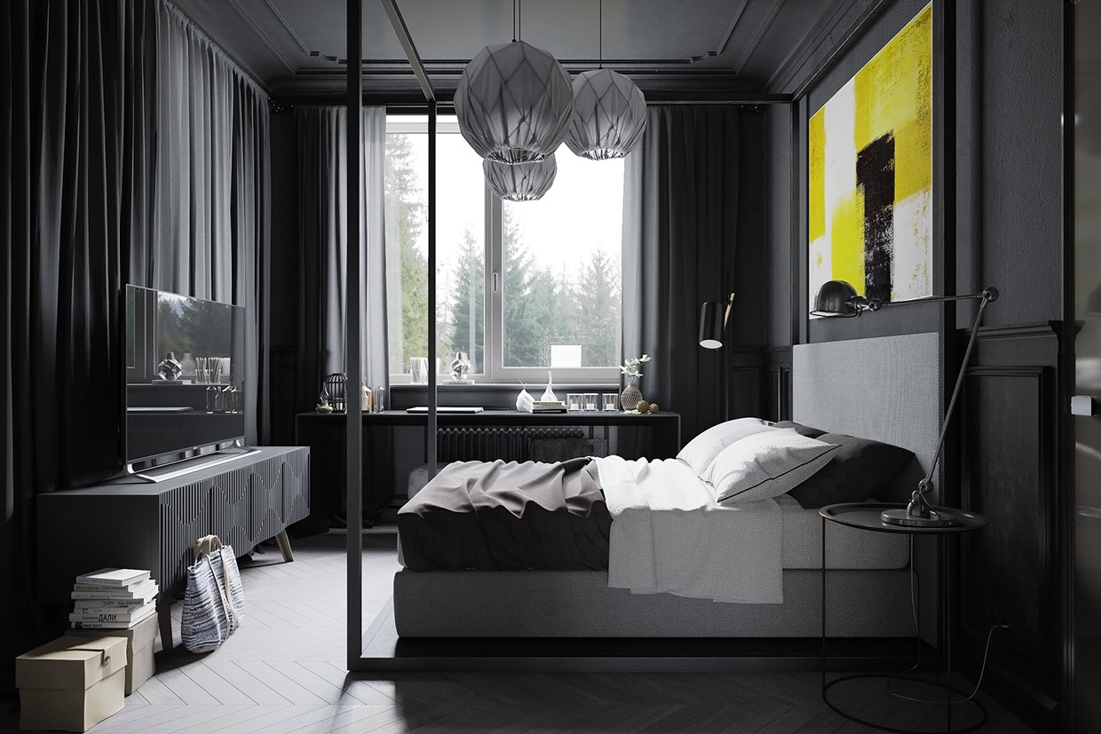 Dark Grey Bedroom Walls A Hipster Inspired Design Concept For Russian Gaming