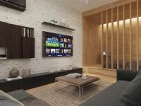 white-brick-accent-wall   Interior Design Ideas.