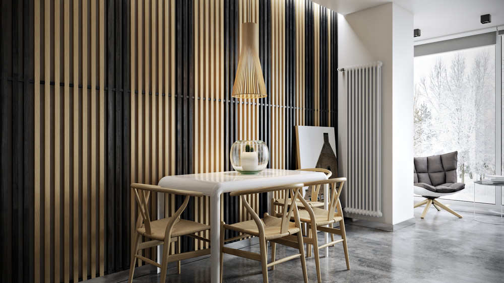 Decoration Murale En Verre Wood Slats Add Texture And Warmth To These Homes