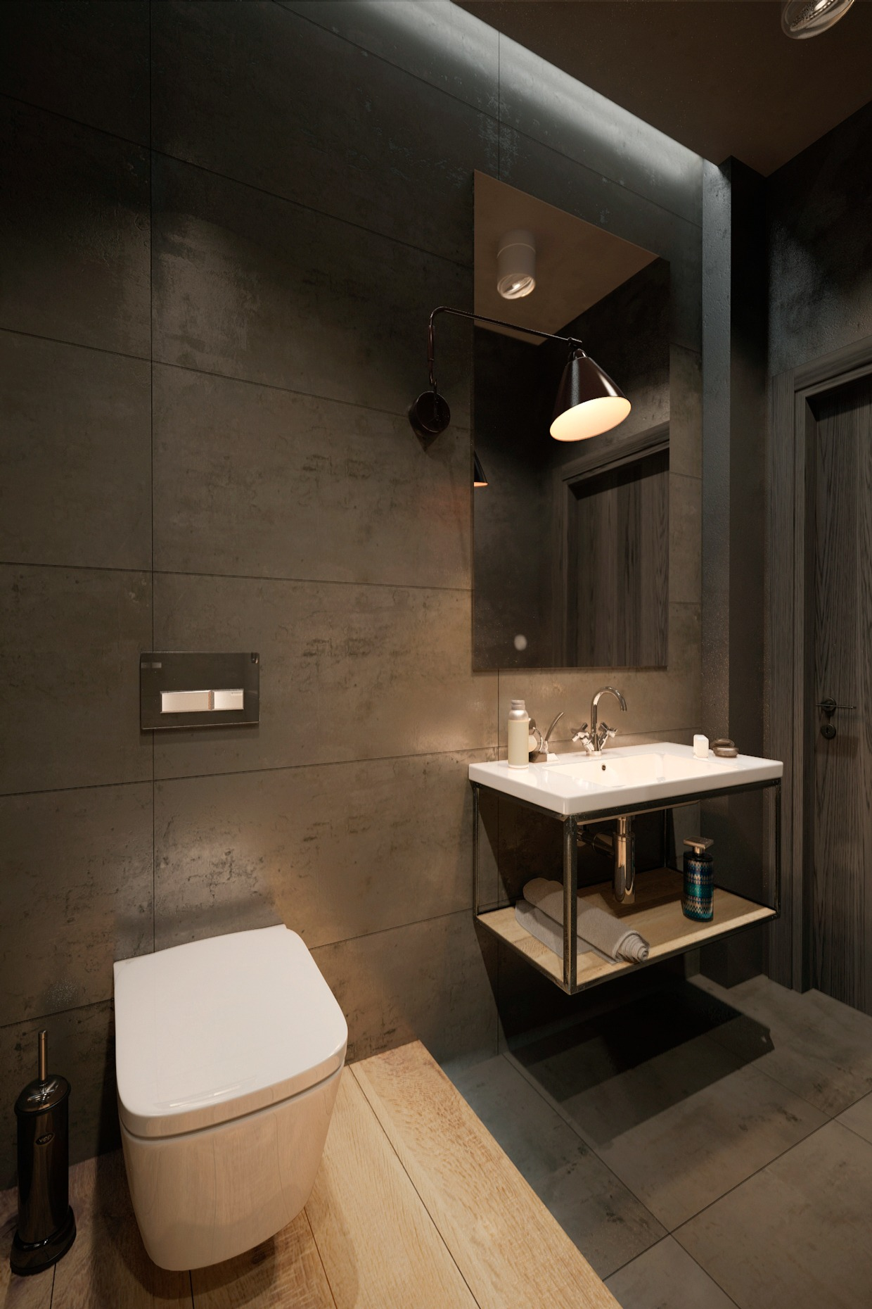 Industrial Style Bathroom Lights Two Homes For Stylish Young Families