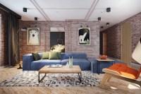 Exposed Brick Living Room | Interior Design Ideas.