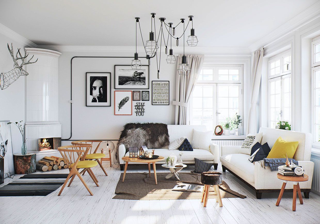Scandinavian Style Living Room Scandinavian Living Room Interior Design Ideas
