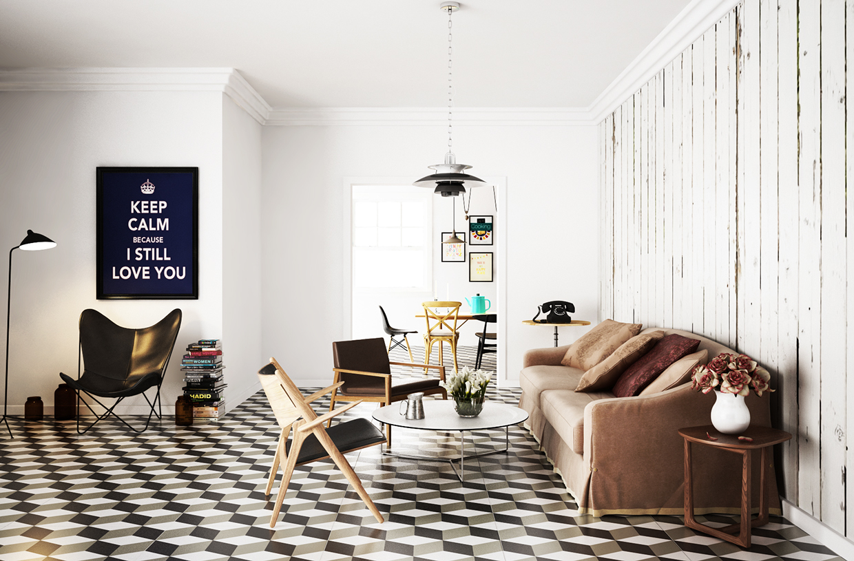 Scandinavian Floor Tiles Scandinavian Living Room Design Ideas And Inspiration