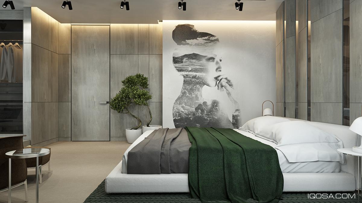 Green duvet interior design ideas