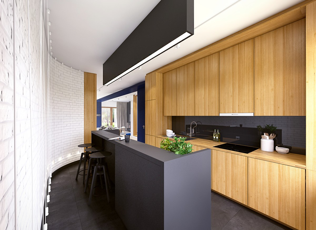Matte Kitchen Cabinets Black White And Wood Kitchens Ideas And Inspiration