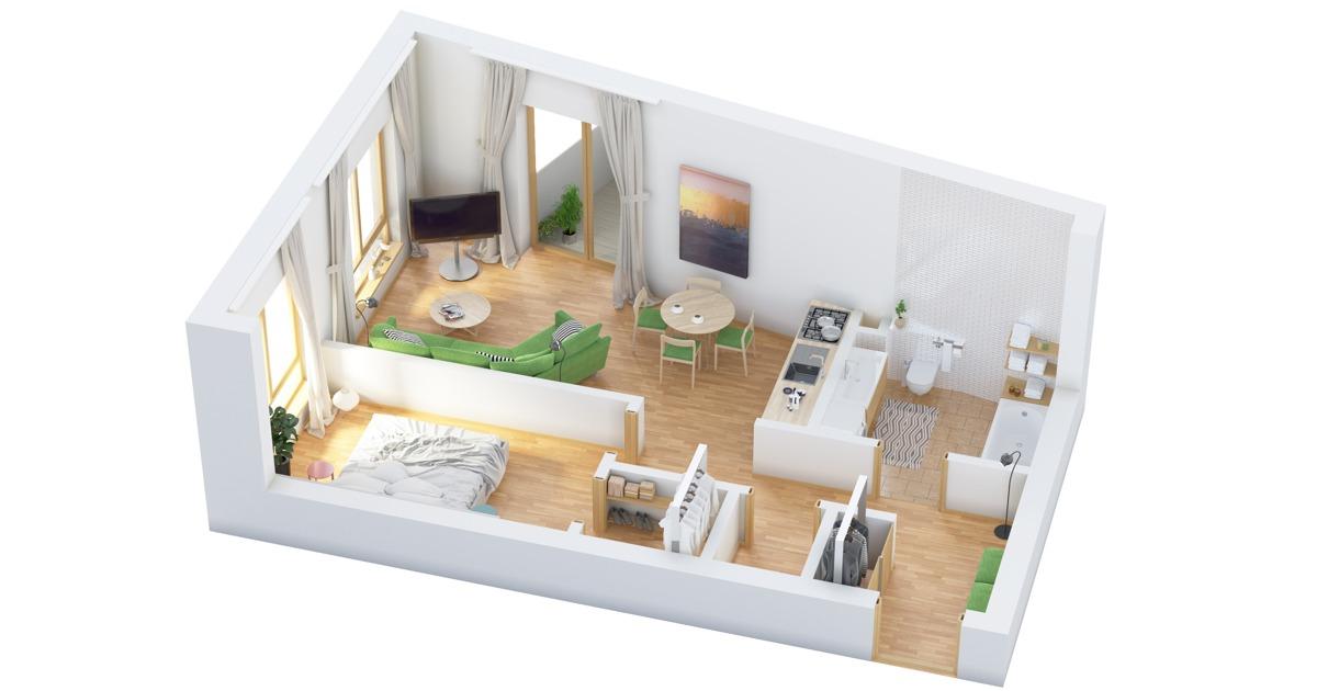 40 More 1 Bedroom Home Floor Plans - one bedroom house plans