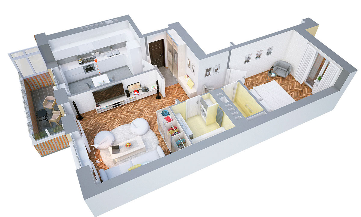 Home Design Floor Plan 40 More 1 Bedroom Home Floor Plans