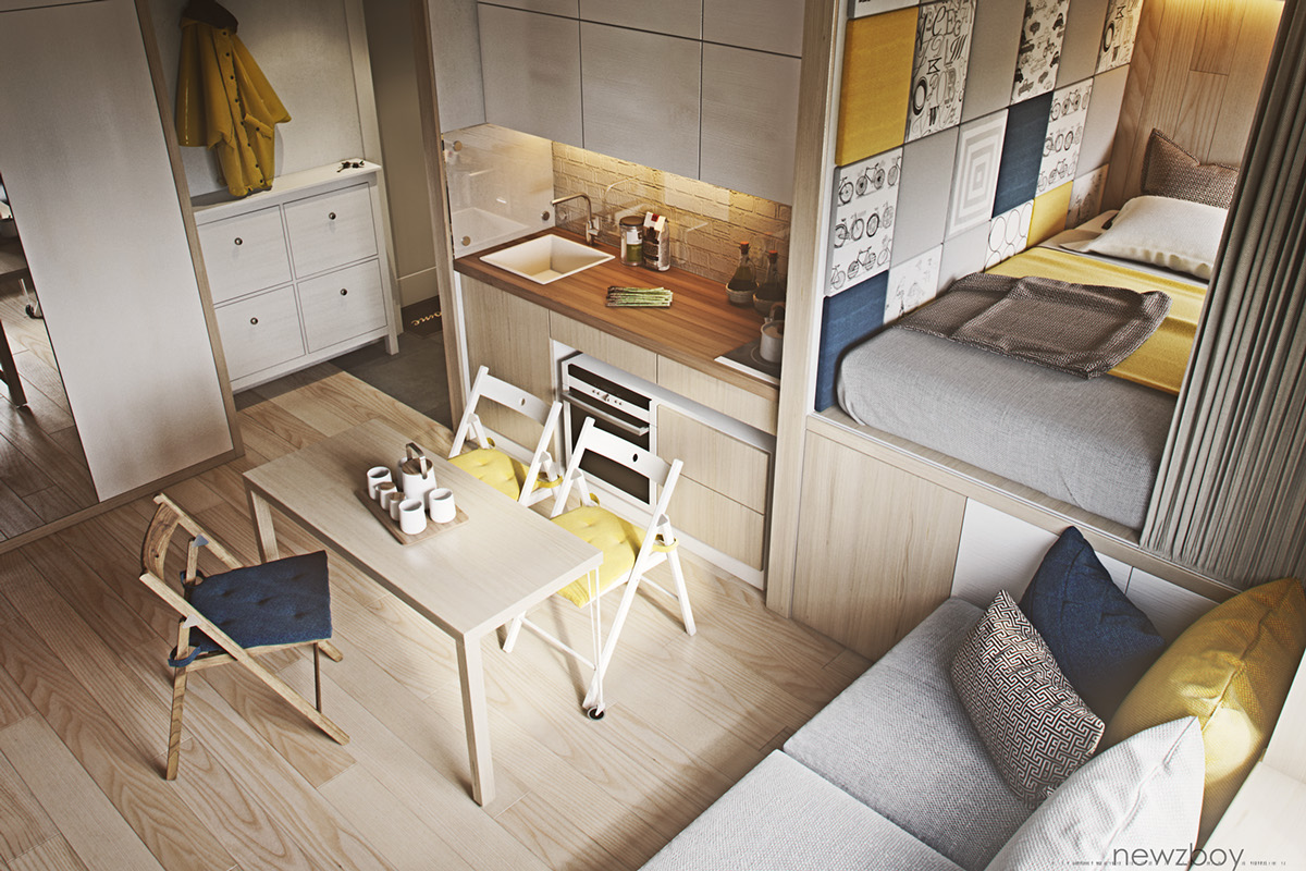Interior Design Ideas For Small House Ultra Tiny Home Design 4 Interiors Under 40 Square Meters