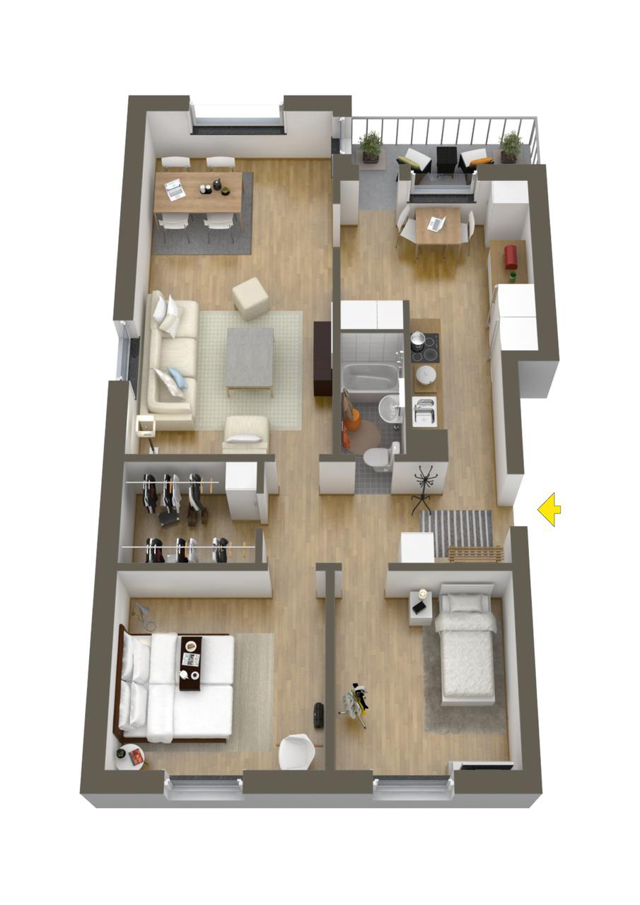 Home Design Floor Plan 40 More 2 Bedroom Home Floor Plans