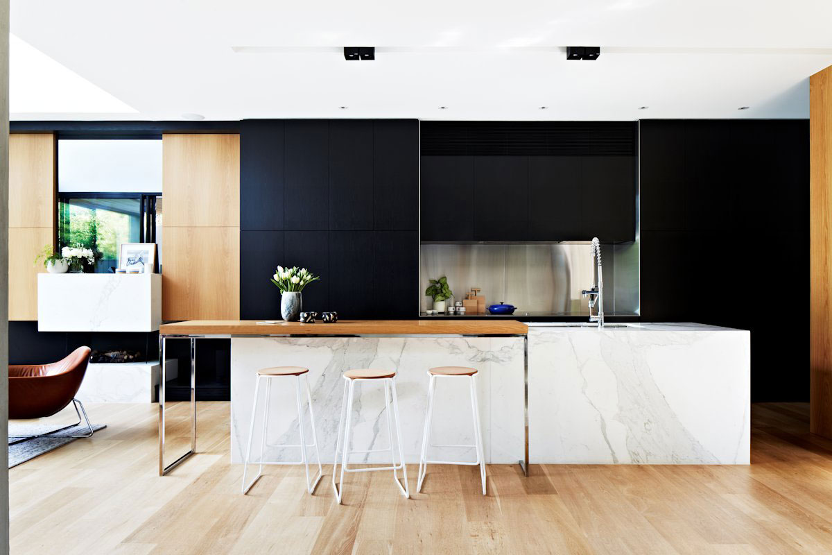 White And Wood Kitchen Black White And Wood Kitchens Ideas And Inspiration