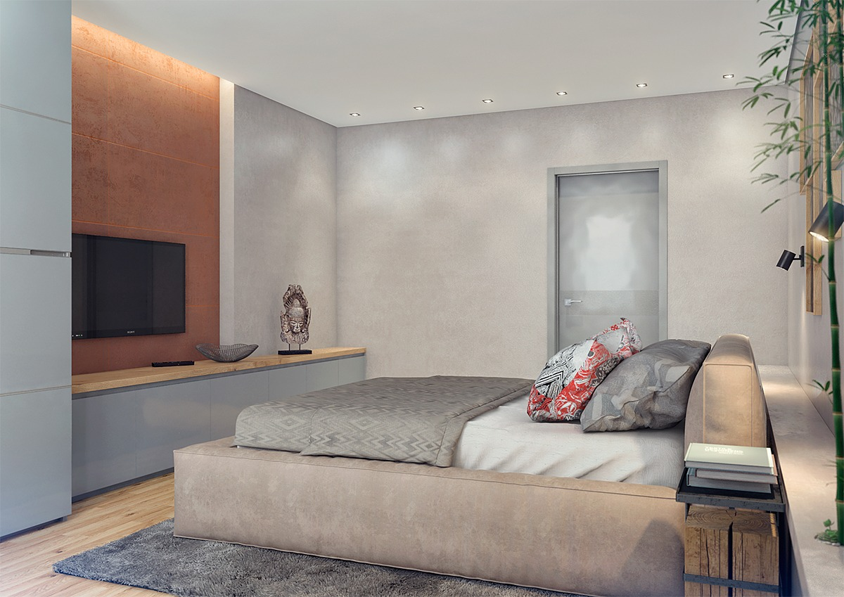 Asian Themed Bedrooms Two Lovely Apartments Featuring Wood Paneling