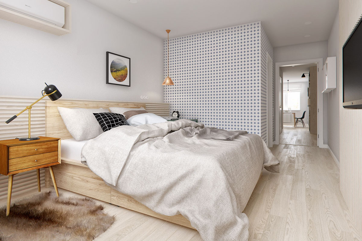 Scandi Style Bedding A Midcentury Inspired Apartment With Scandinavian Tendencies