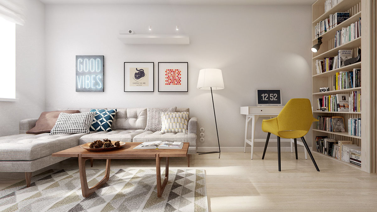 Mid Century A Midcentury Inspired Apartment With Scandinavian Tendencies