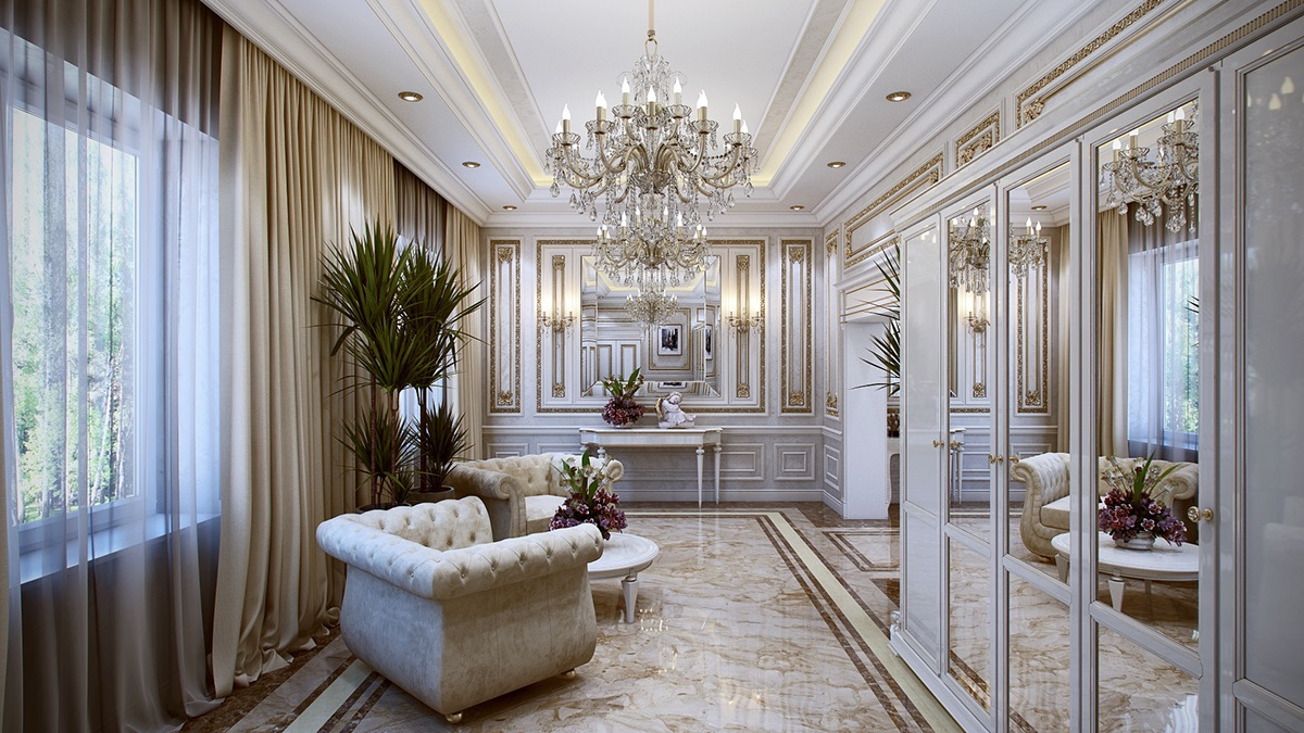 5 Luxurious Interiors Inspired By Louis Era French Design - Decoration Modern Hall