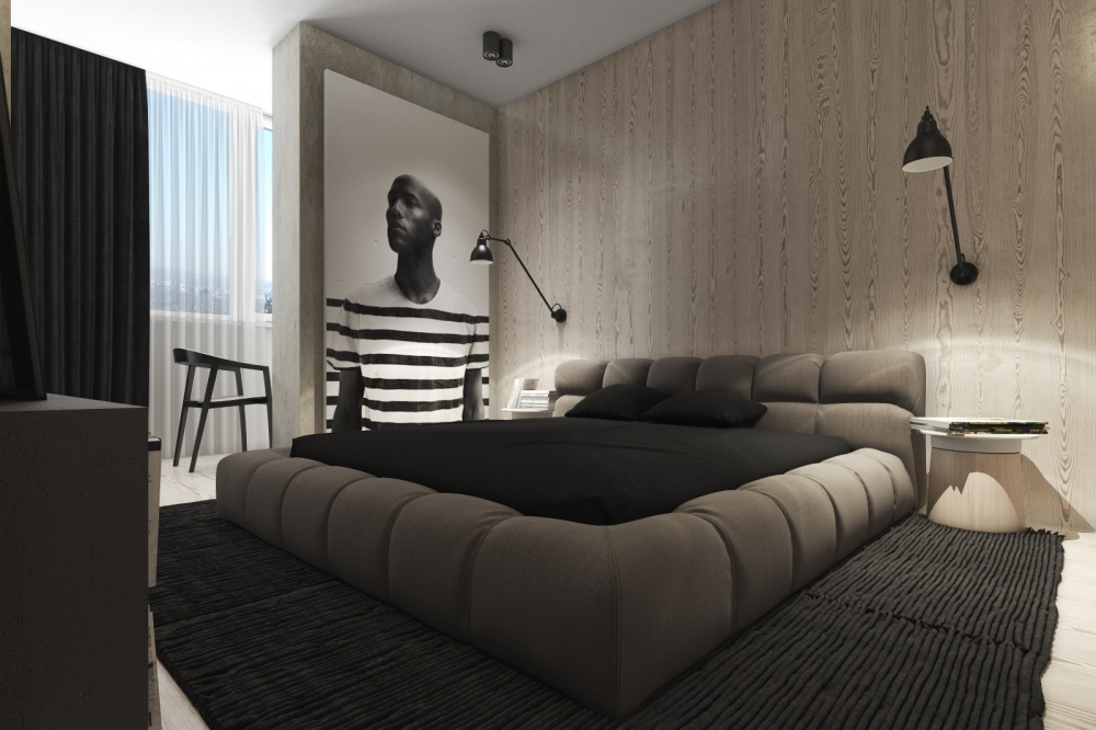 Chambre Noir Blanc Gris Dark, Neutral Themed Interiors: Ideas & Inspiration