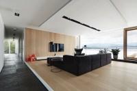 black and wood living room | Interior Design Ideas.