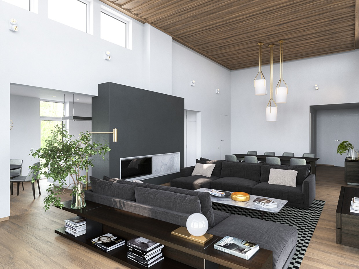 Gray Interior Design 3 Modern Homes In Many Shades Of Gray