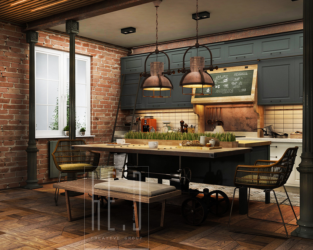 Industrial Rustic Kitchen Design Industrial Kitchen Decor Interior Design Ideas