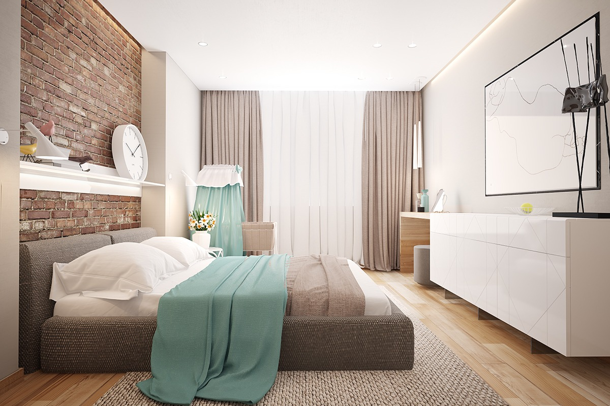 Modern Bedroom Walls 3 Stunning Homes With Exposed Brick Accent Walls