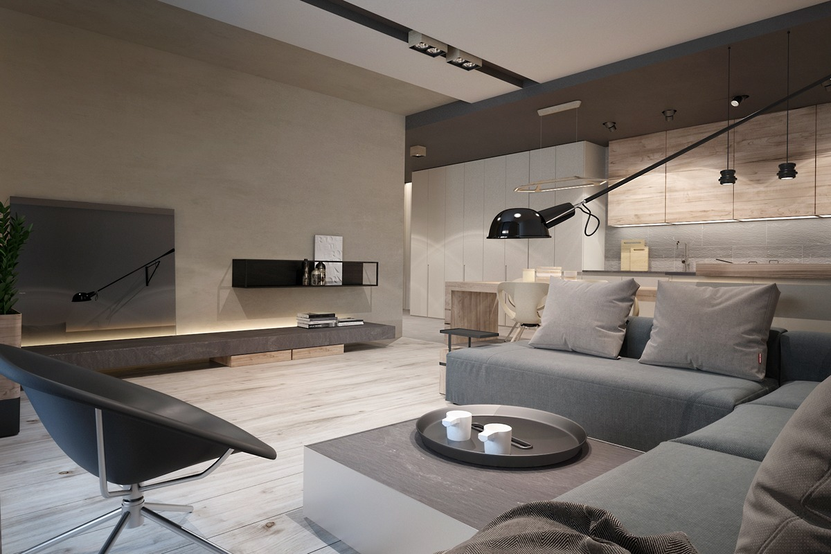 Couchtisch Beach Modern Gray And Tan Living Room | Interior Design Ideas.