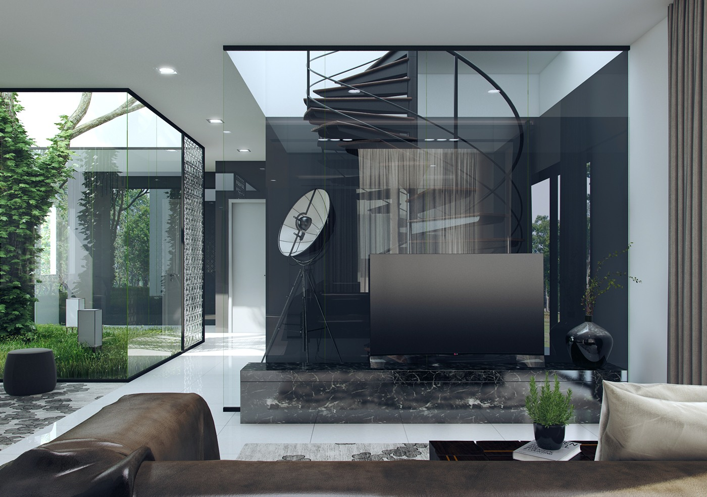 Glass Wall Interior 3 Natural Interior Concepts With Floor To Ceiling Windows