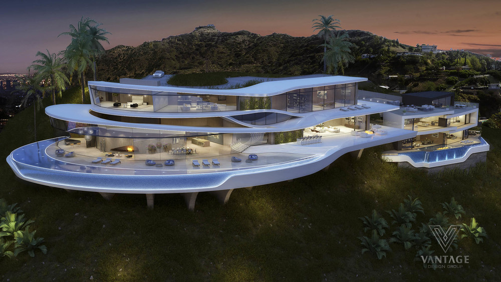 located hollywood hills incredible home consists architecture home design beautiful home design ideas house