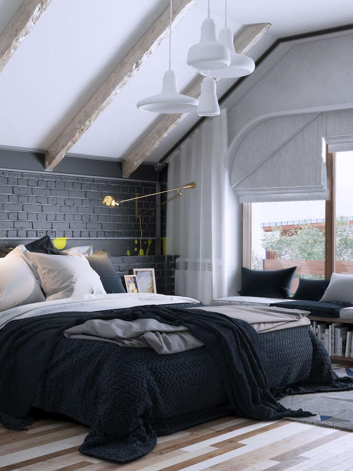 Farbeffekte Wand 6 Creative Bedrooms With Artwork And Diverse Textures