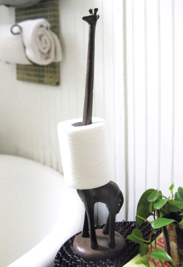 image of bathroom accessories decor ideas roll towel giraffe bathroom decor 600x876