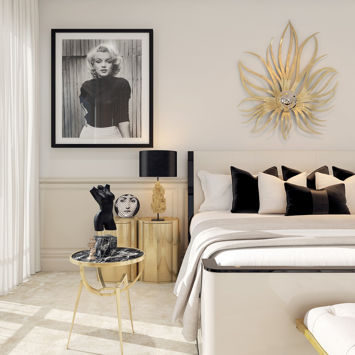 Art Deco Style Bedroom A Modern Art Deco Home Visualized In Two Styles